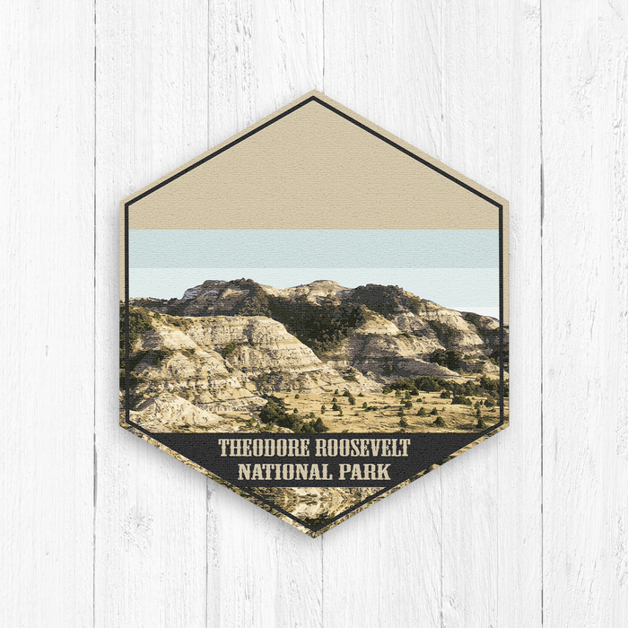 Theodore Roosevelt National Park Hexagon Illustration Canvas