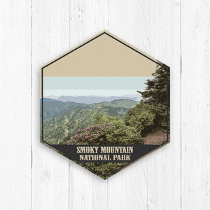 Great Smoky Mountain National Park Hexagon Illustration