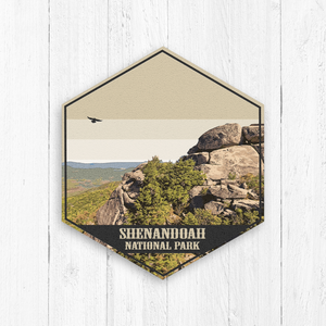 Shenandoah National Park Virginia Hexagon Illustration Canvas