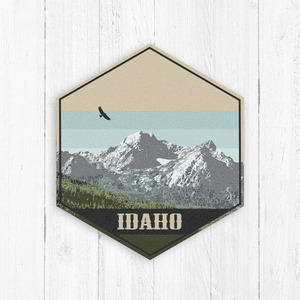 Idaho Hexagon Illustration Print