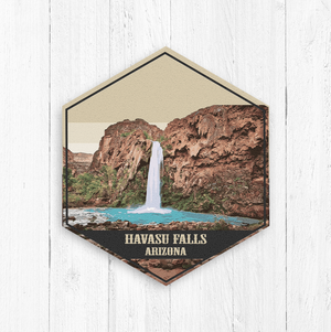 Havasu Falls Arizona Hexagon Canvas