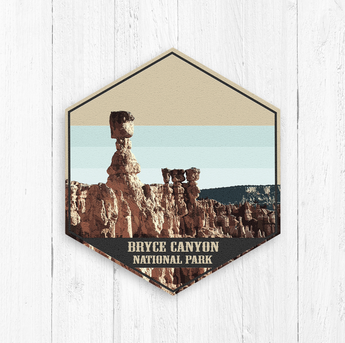 Bryce Canyon National Park Utah Hexagon Illustration