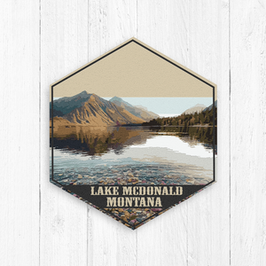 Lake McDonald Canvas Print Illustration