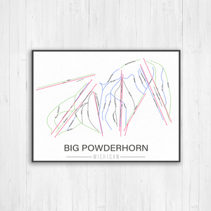 Big Powderhorn Michigan Ski Trail Map