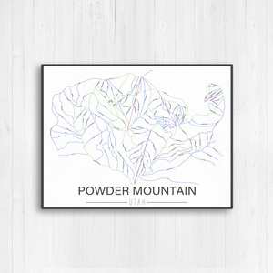 Powder Mountain Utah Ski Trail Map