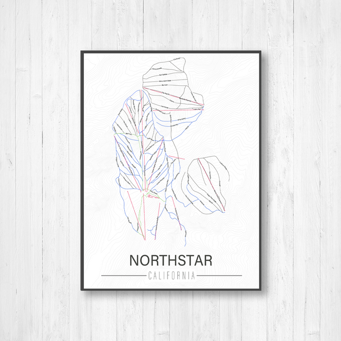 Northstar California Ski Trail Map by Printed Marketplace