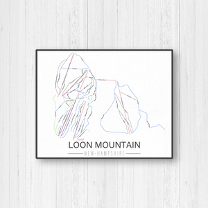 Loon Mountain New Hampshire Ski Trail Map by Printed Marketplace