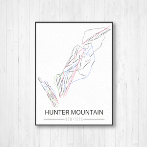 Hunter Mountain New York Ski Trail Map