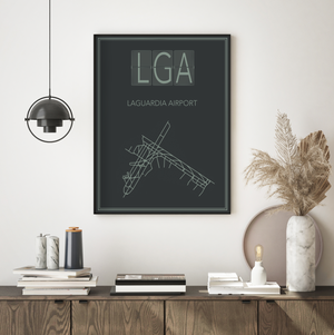 LaGuardia Airport Map Print