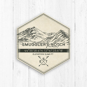 Smuggler's Notch Ski Resort Hexagon Badge