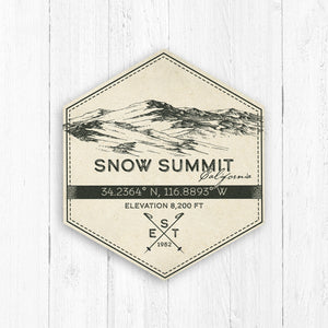 Snow Summit Ski Resort Hexagon Badge