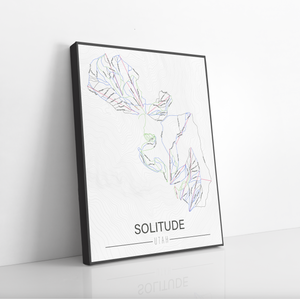 Solitude Utah Ski Trail Map by Printed Marketplace