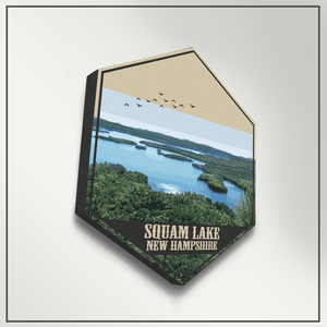 Squam Lake New Hampshire Hexagon Canvas