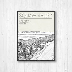 Squaw Valley Print