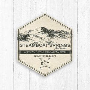 Steamboat Springs Ski Resort Hexagon Badge