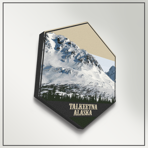 Talkeetna Alaska Hexagon Illustration