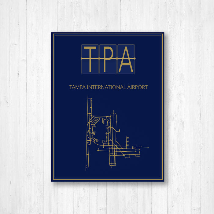 Tampa International Airport Map Print
