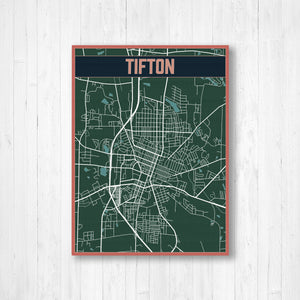 Tifton Map Print