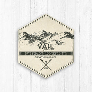 Vail Ski Resort Hexagon Badge
