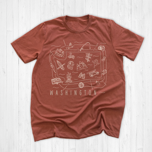 Illustrated Washington Shirt By Printed Marketplace