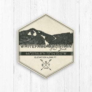 Whiteface Mountain Ski Resort Hexagon Badge