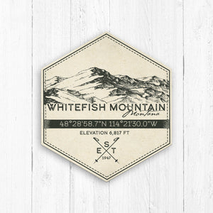 Whitefish Mountain Ski Badge Print