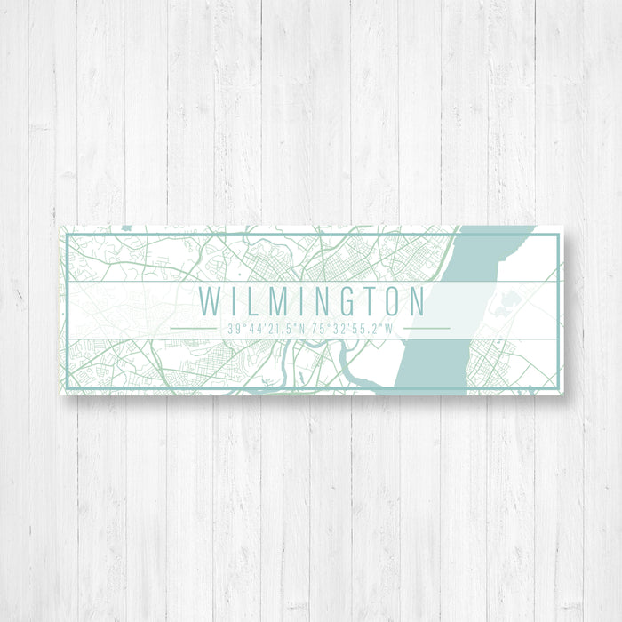 Wilmington Delaware City Street Map Print