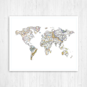 World Shape Map
