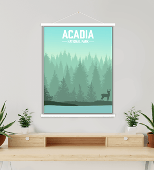 Acadia National Park Modern Illustration Print