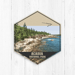 Acadia National Park Hexagon Illustration
