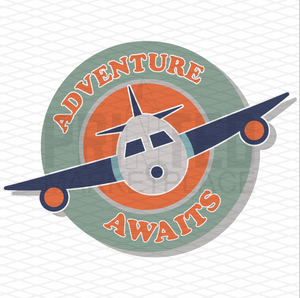 Adventure Awaits Airplane Onesie® | Printed Marketplace