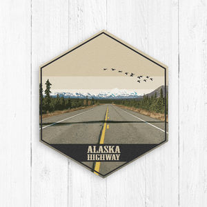 Alaska Highway Hexagon Illustration