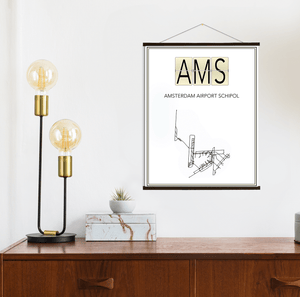 Amsterdam Schiphol Airport Map Print
