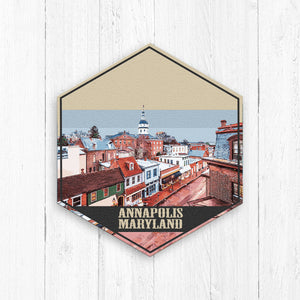 Annapolis Maryland Hexagon Illustration Print