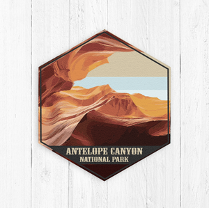 Antelope Canyon Arizona Hexagon Illustration Canvas