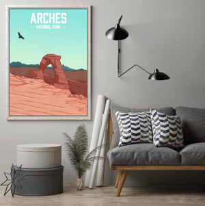 Arches National Park Modern Illustration Print