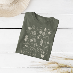 Illustrated Arizona Shirt By Printed Marketplace