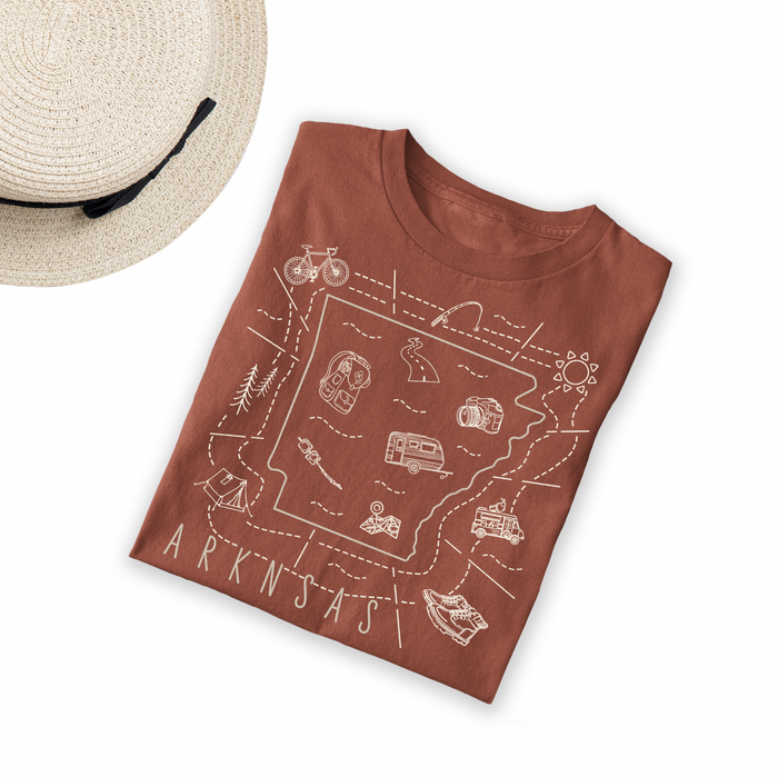 Illustrated Arkansas Shirt By Printed Marketplace