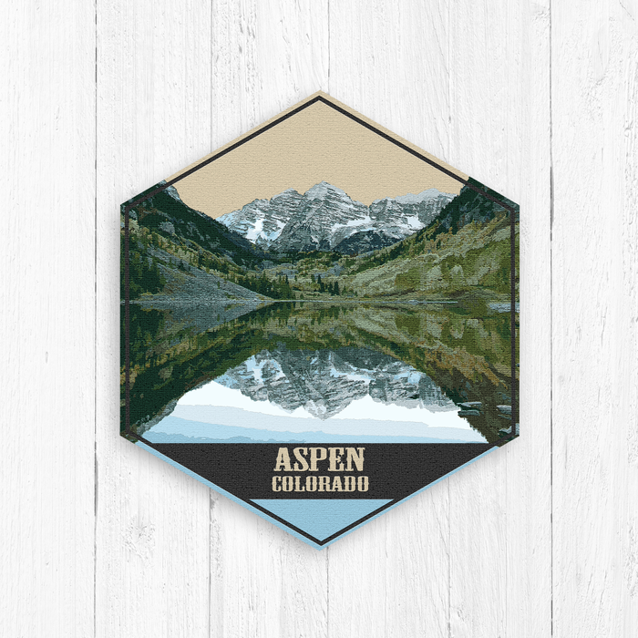 Aspen Colorado Hexagon Canvas Print