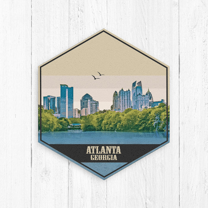 Atlanta Georgia Hexagon Illustration Print