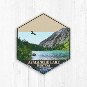 Avalanche Lake Hexagon Canvas Print