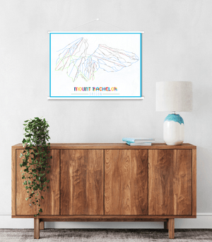 Mount Bachelor Oregon Ski Trail Map by Printed Marketplace