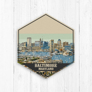 Baltimore Maryland Hexagon Illustration Canvas