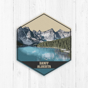 Banff Alberta Hexagon Illustration by Printed Marketplace