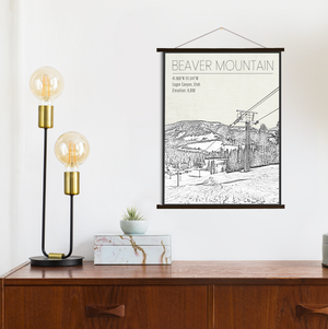 Beaver Mountain Utah Ski Resort | Hanging Canvas of Beaver Mountain | Printed Marketplace