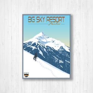 Big Sky Modern Illustration Print by Printed Marketplace