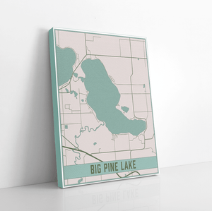 Big Pine Lake Minnesota Lake Map Print