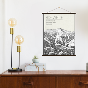 Big White Canada Ski Resort | Hanging Canvas of Big White Resort | Printed Marketplace