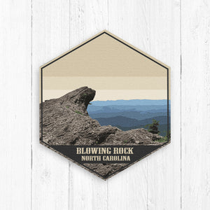 Blowing Rock North Carolina Hexagon Illustration