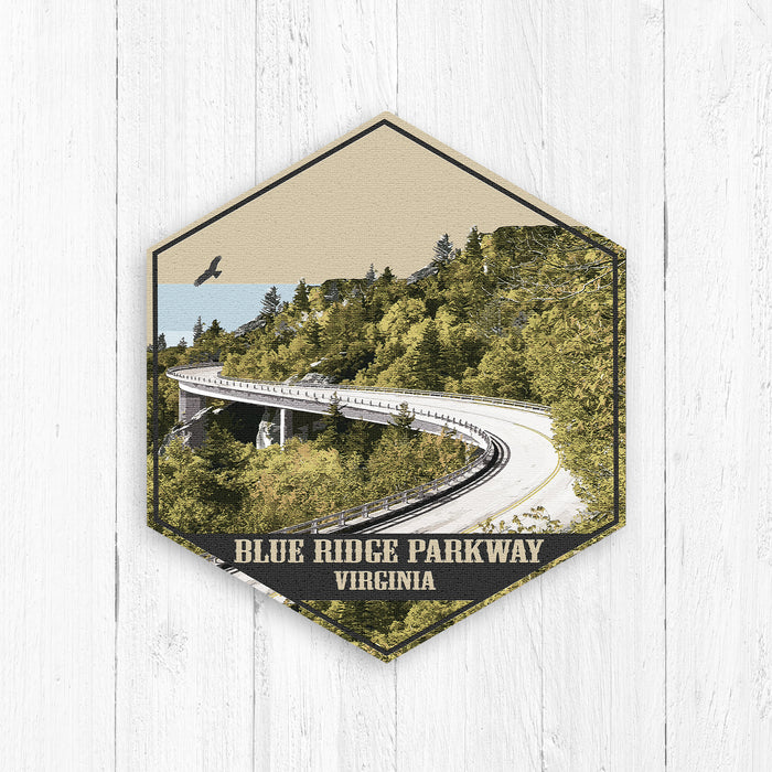 Blue Ridge Parkway Virginia Hexagon Illustration